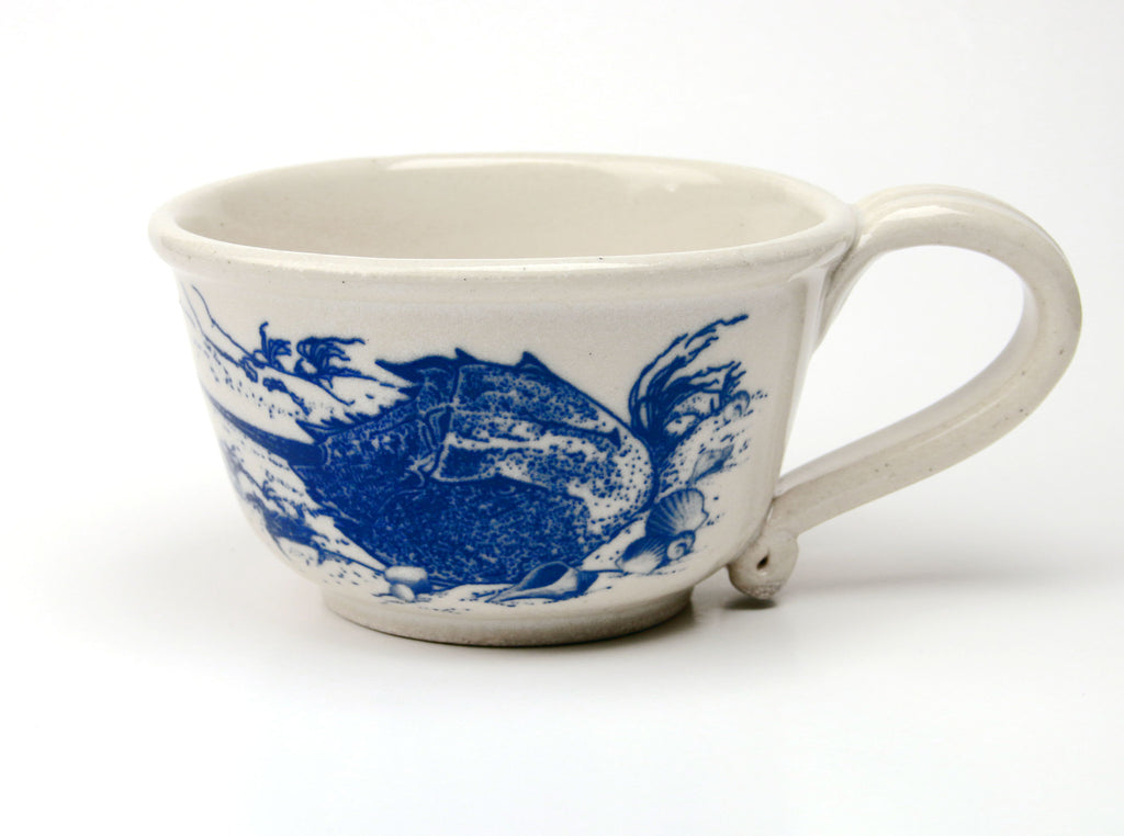 Chowder Mug - In Glaze Illustration - Horseshoe Crab