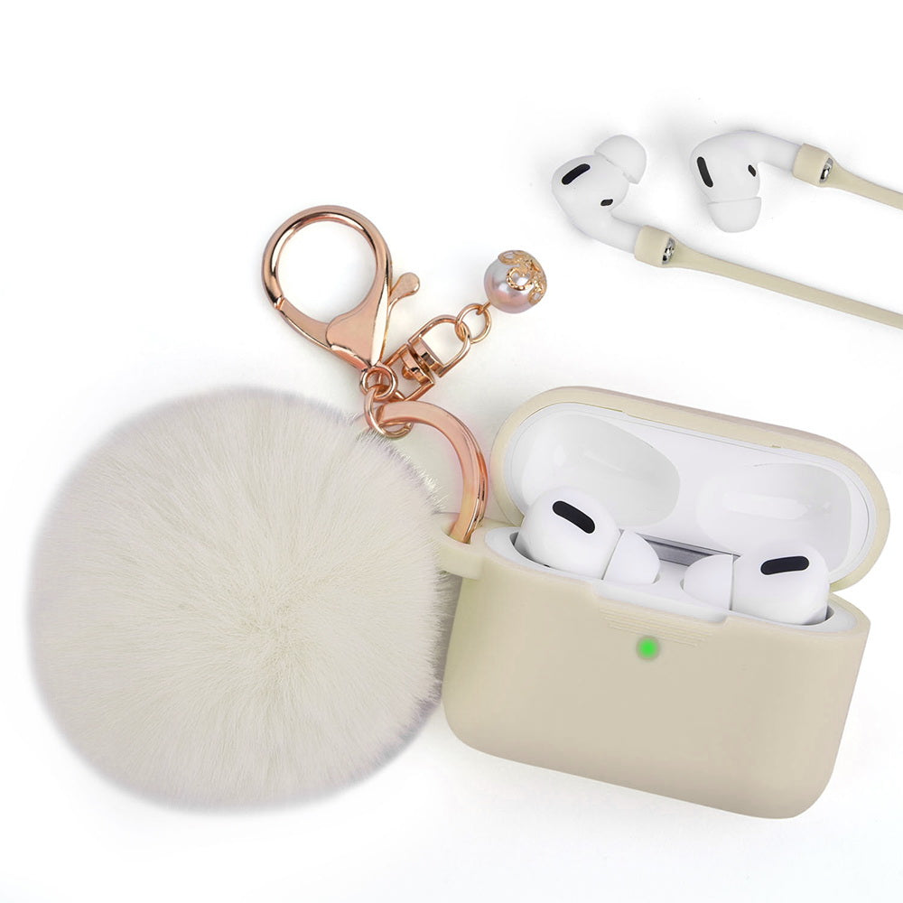Almond Oil Keychain Case for Airpods Pro