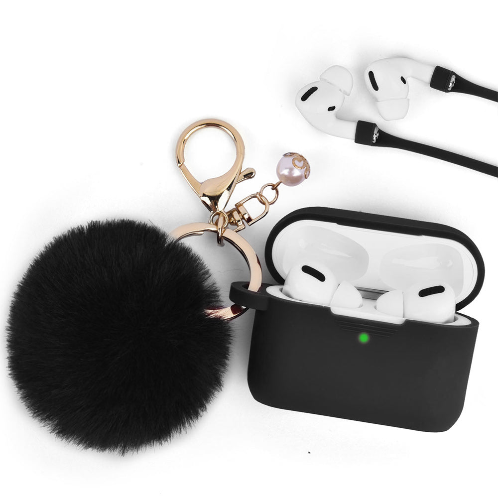 Classy Black Keychain Case for Airpods Pro