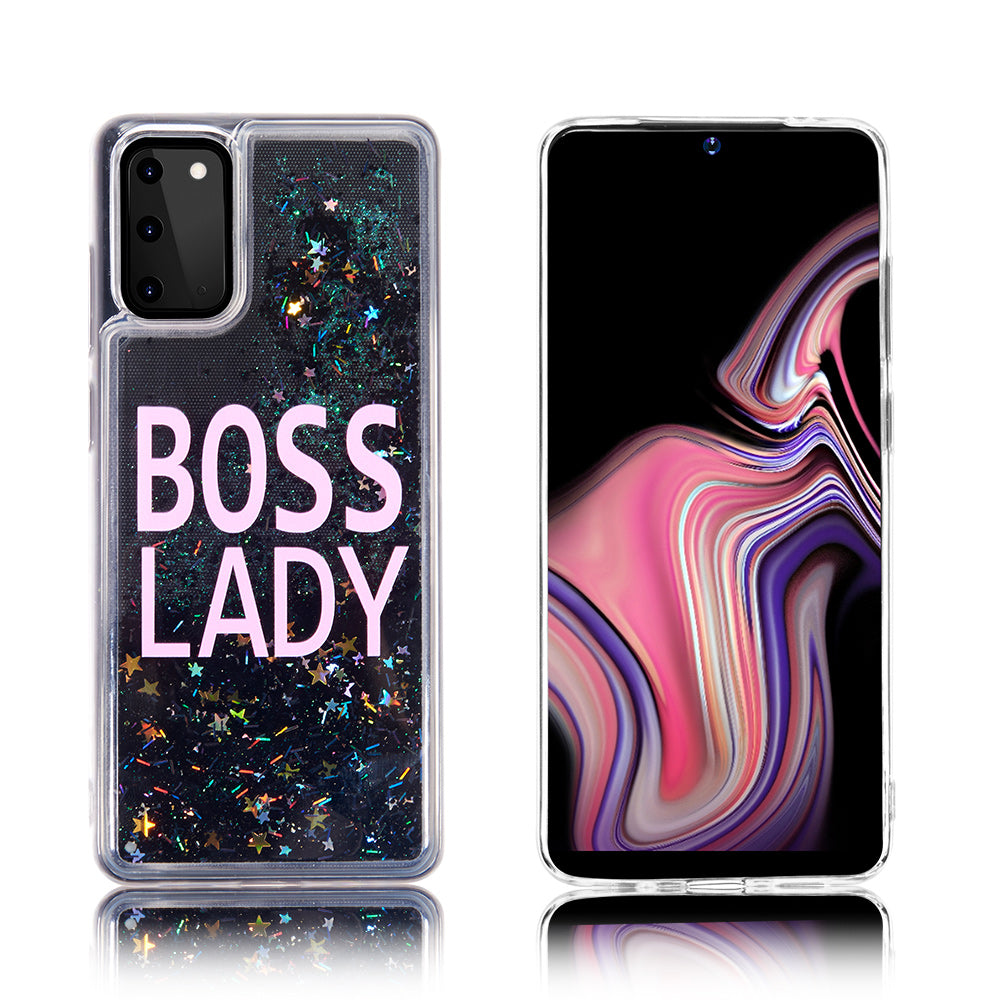 Boss Lady Glitter Case for Galaxy Note 20