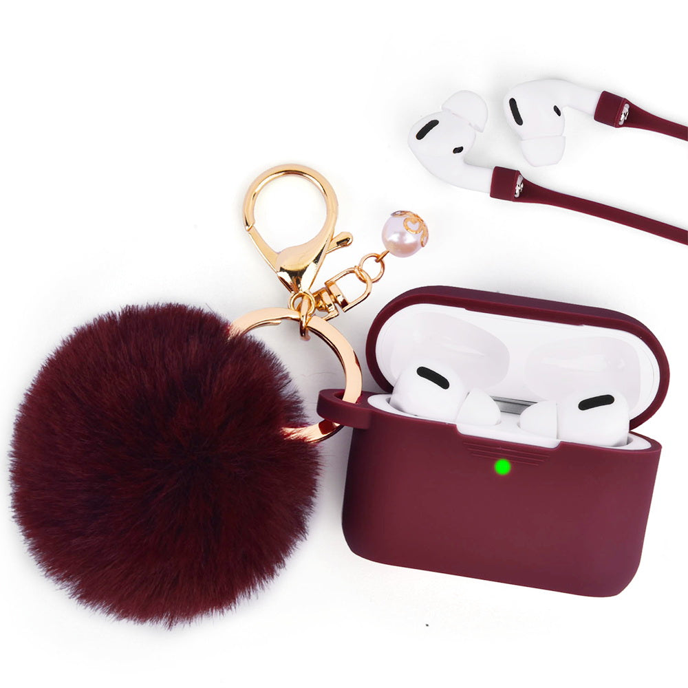 Burgundy Case for Airpods Pro