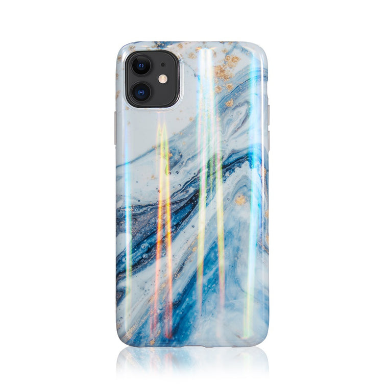 Opulent Blue Gold Marble Case for iPhone