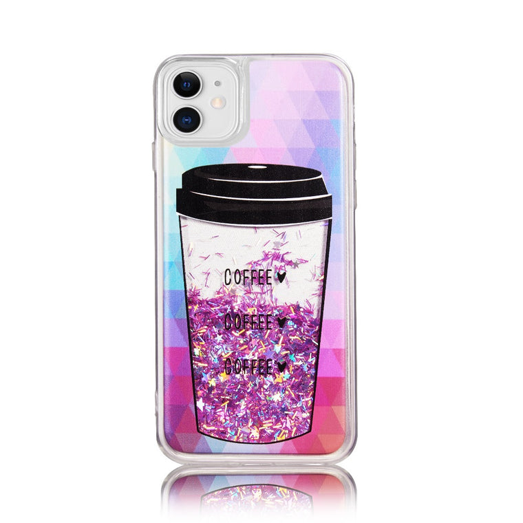 Classy Coffee Glitter Case for iPhone