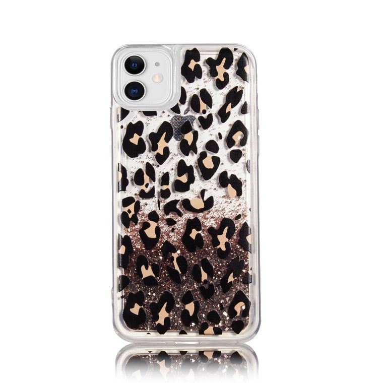 Classy Leopard Glitter Case for iPhone