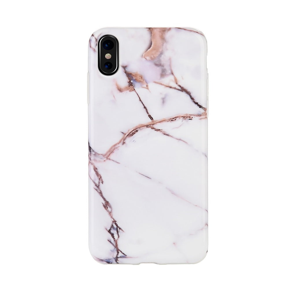 Classy White and Gold Marble Case for iPhone