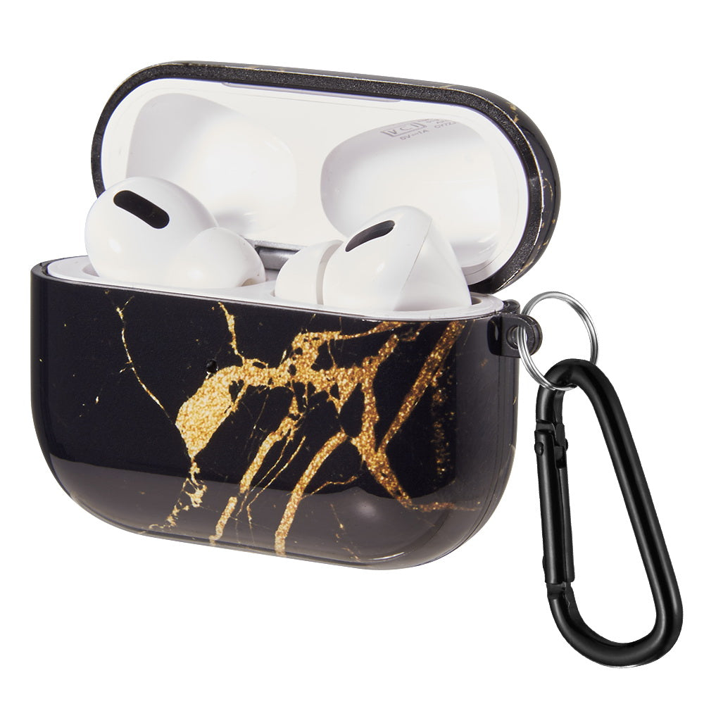 Classy Gold Black Marble Case for Airpods Pro