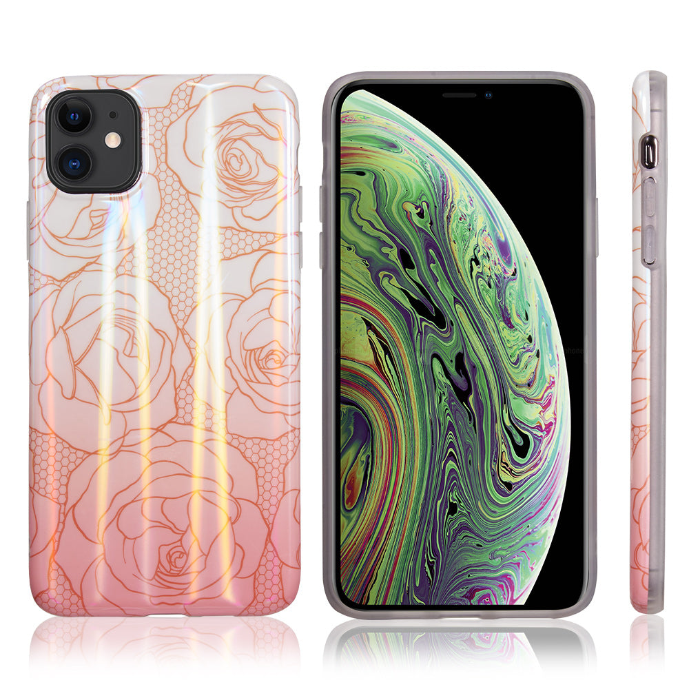 Holographic Romantic Rose Case for iPhone