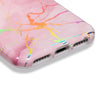 Holographic Streak Pink Marble Case for iPhone