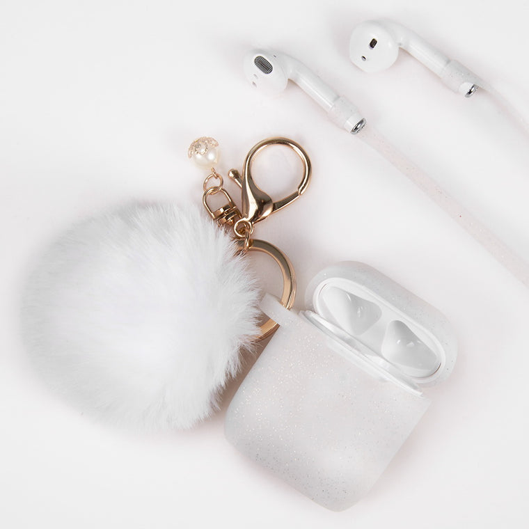 Ivory White Keychain Case for Airpods
