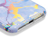 Holographic Streak Midnight Blue Marble Case for iPhone