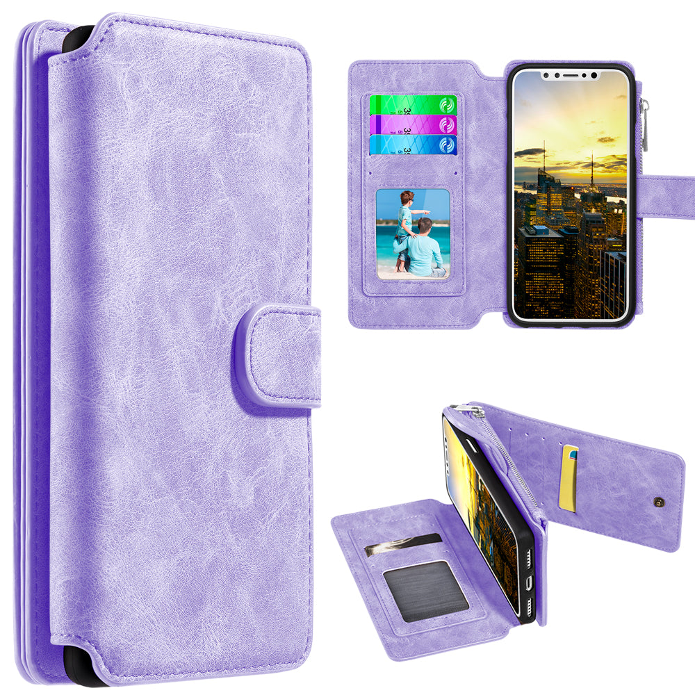 Classy Wallet with Magnetic Removal Lavender for iPhone