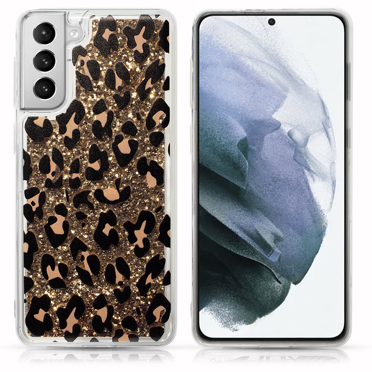 Leopard Glitter Case for Galaxy S21 Series