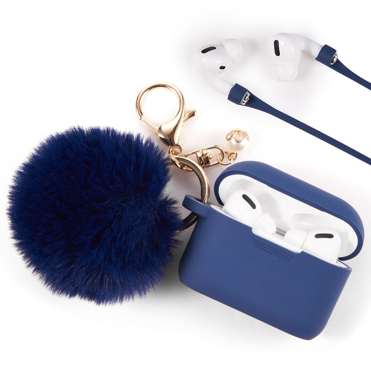 Midnight Blue Keychain Case for Airpods Pro
