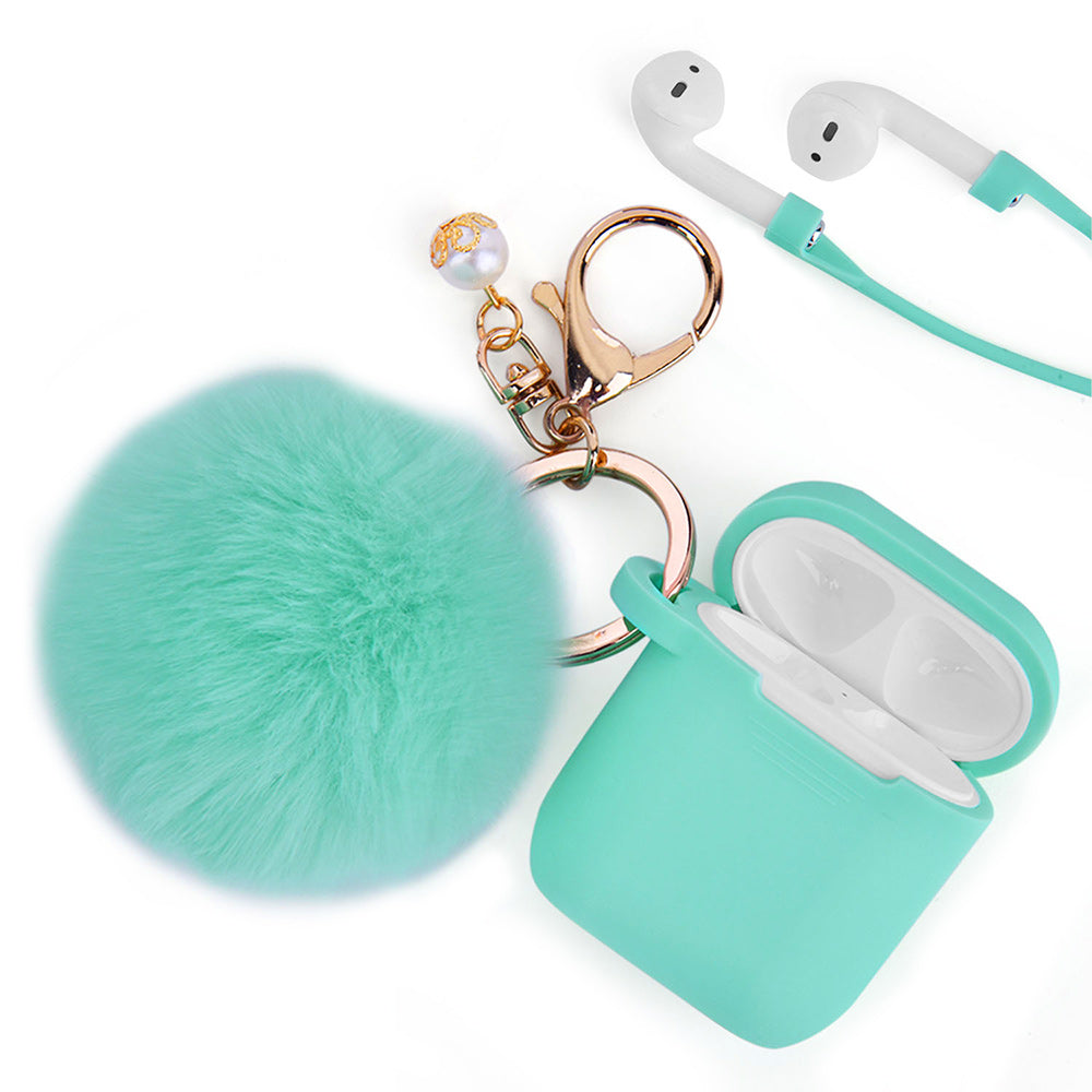 Mint Green Keychain Case for Airpods