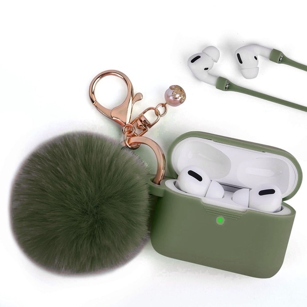 Olive Green Keychain Case for Airpods Pro