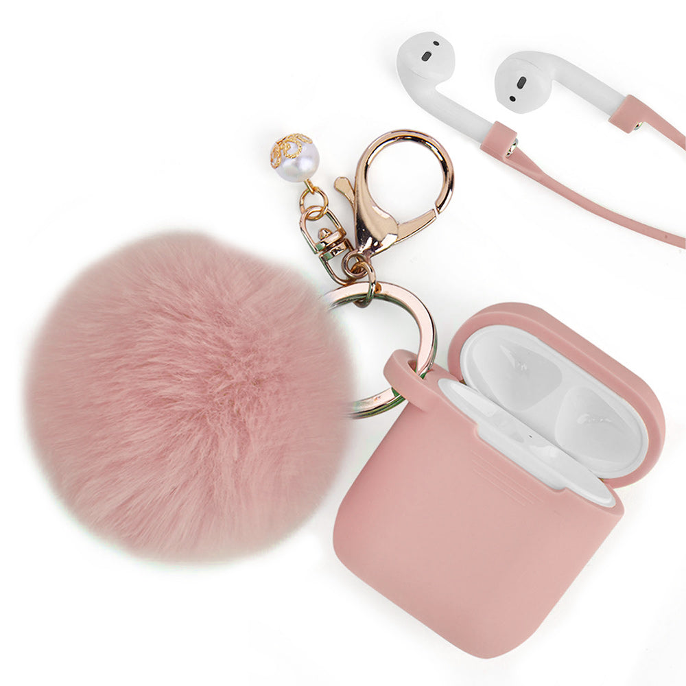 Peach Pink Keychain Case for Airpods