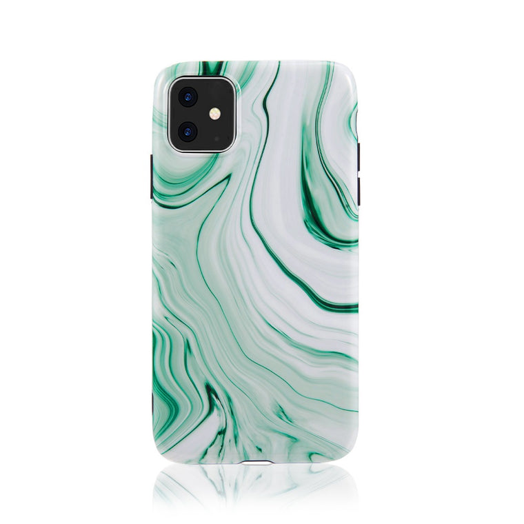 Green Peppermint Marble Case for iPhone