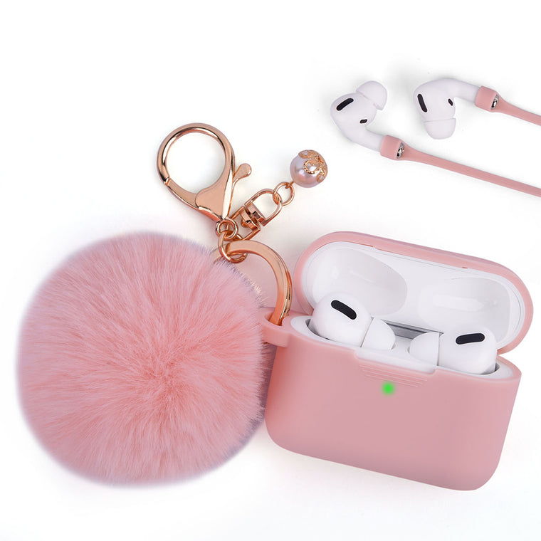 Peach Pink Keychain Case for Airpods Pro