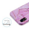 Magenta Sky Marble Case for iPhone
