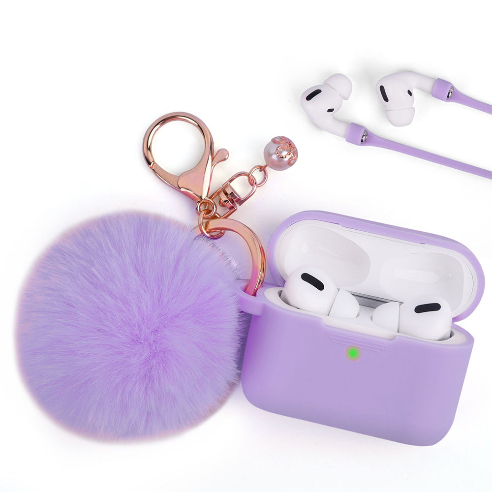 Lavender Keychain Case for Airpods Pro