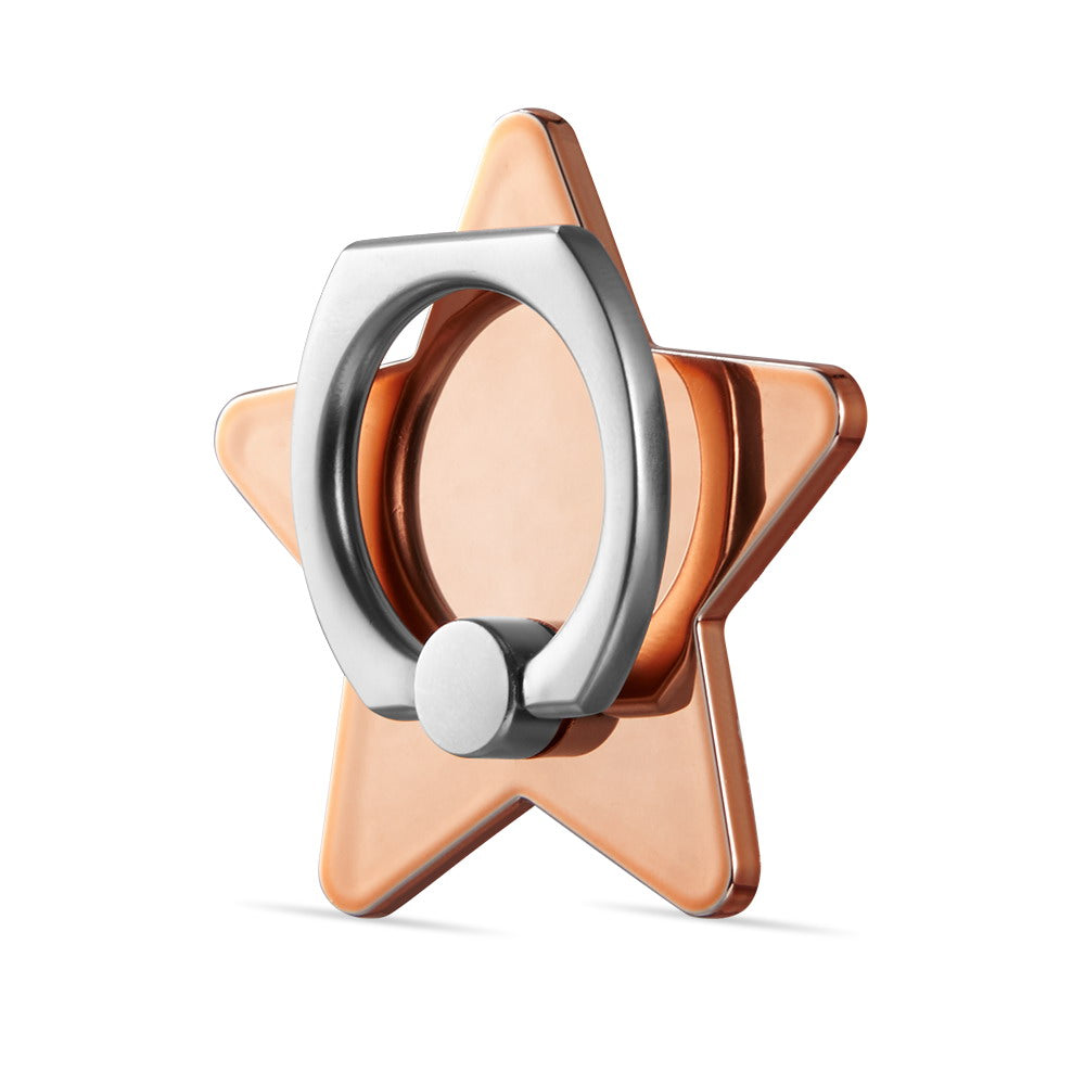 Classy Rose Gold Metallic Star Grip Ring