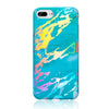 Holographic Streak Teal Marble Case for iPhone