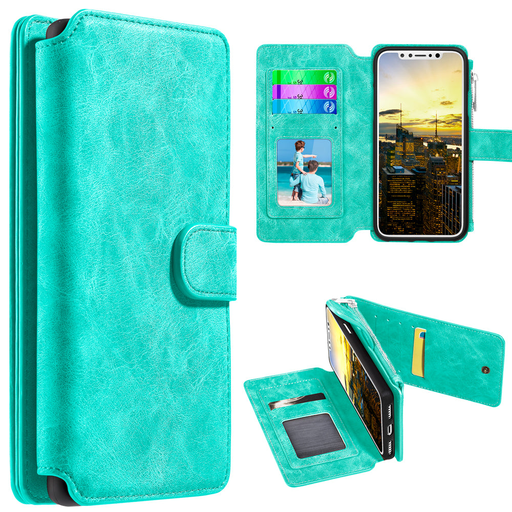 Classy Wallet with Magnetic Removal in Teal for iPhone