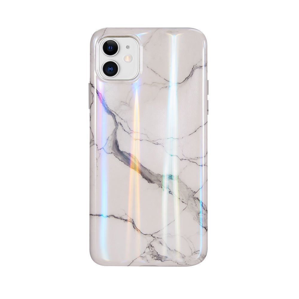 Holographic White Marble Case for iPhone