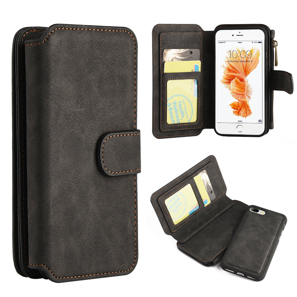 Classy Wallet with Magnetic Removal Black for iPhone 8