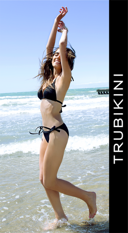 Trubikini - Ultimate Triangle and Tie-Side Pant on location in Italy