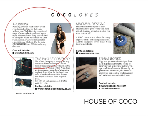 Trubikini Features in House Of Coco Magazine