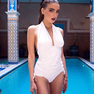 WHITE SWIMDRESS