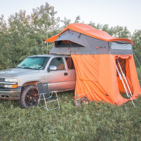 Redwood Constellation roof-top tent with Annex Room on a truck