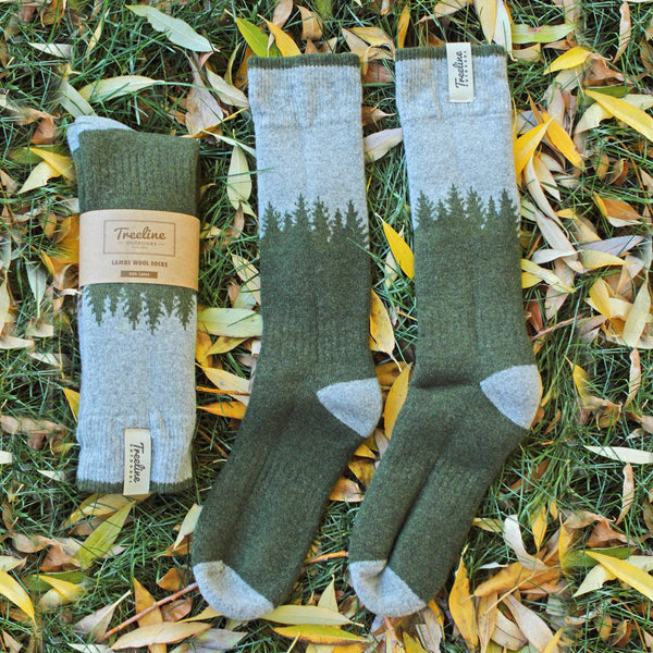 Skookumchuck lambs wool socks are ideal for hiking and camping