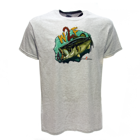 Wired2fish Bass T-Shirt - Ash