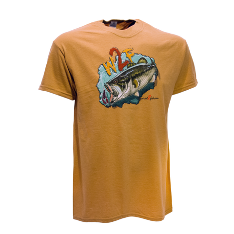 Wired2fish Bass T-Shirt -Tan