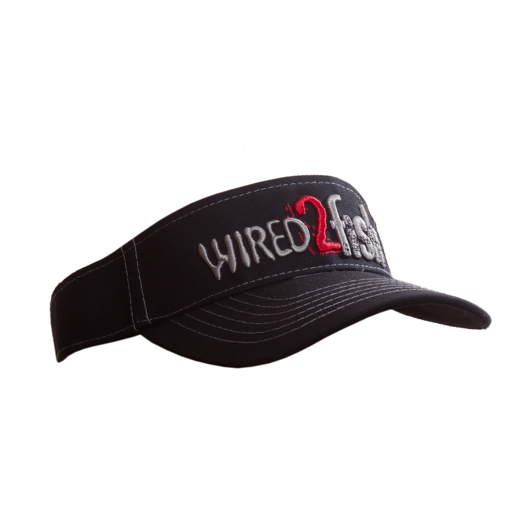 Wired2fish Black Visor