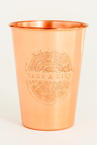 TAKE A HIKE COPPER TUMBLER