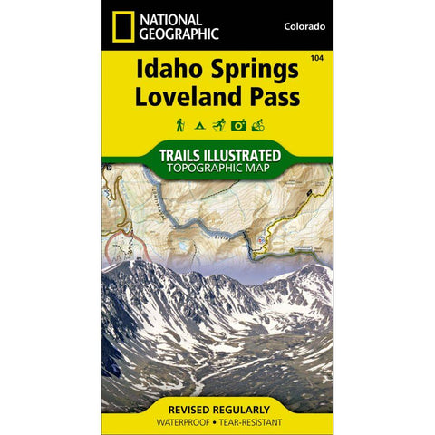 National Geographic Idaho Springs, Loveland Pass 104 map