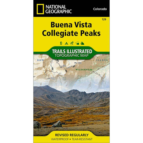 National Geographic Buena Vista Collegiate Peaks Trail Map - 129