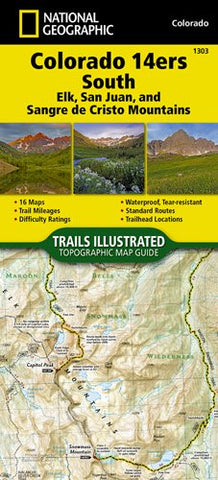 National Geographic - Colorado 14ERS South 1303 Map
