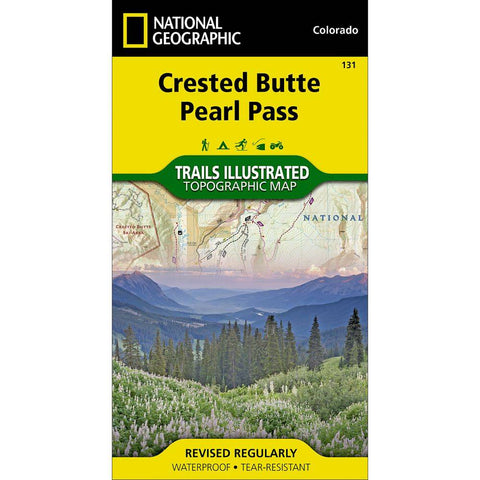 National Geographic - Crested Butte, Pearl Pass 131 MAP