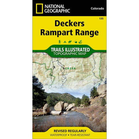 National Geographic Deckers Rampart Range Map 135