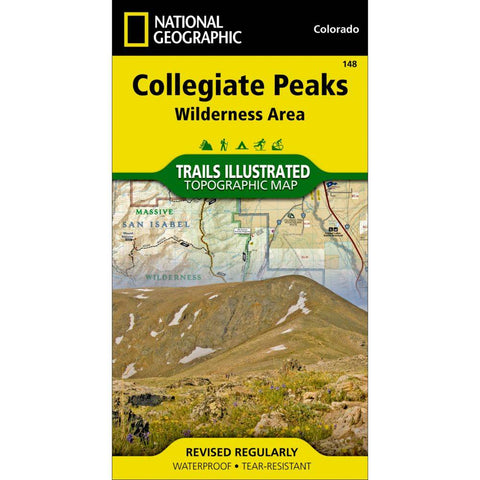 National Geographic - Collegiate Peaks Wilderness Area 148 MAP