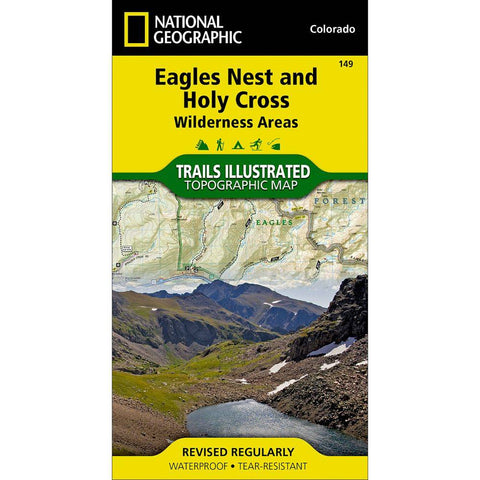 National Geographic - Eagles Nest and Holy Cross Wilderness Areas 149 MAP