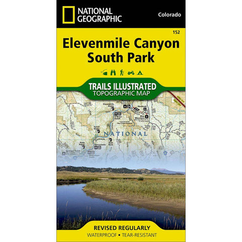 National Geographic - Elevenmile Canyon, South Park 152 Map