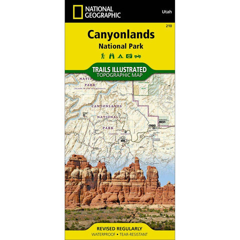 National Geographic - Canyonlands National Park 210 Map