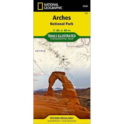 National Geographic - Arches National Park 211 Map