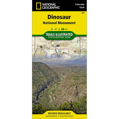 National Geographic - Dinosaur National Monument 220 Map