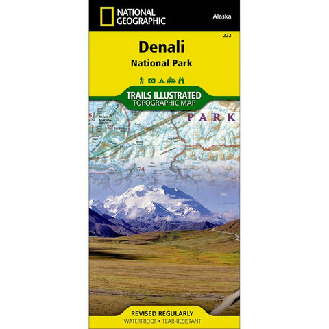 National Geographic - Denali National Park and Preserve 222 Map